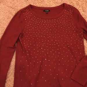 Red sparkle sweater!